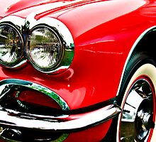 Red Corvette Headlights by htrdesigns