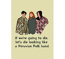 Peruvian Folk Band Photographic Print