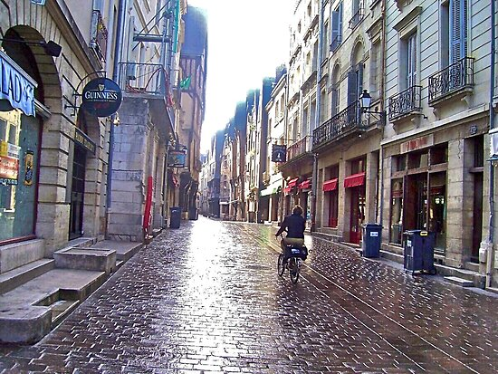 Early Morning Street in France by magicaltrails