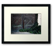 Ivy Door Framed Print