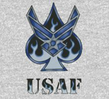 USAF Spade with Flames (colored pencil) by screamingtiki