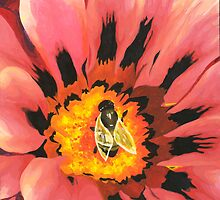 Bee on a Flower by Emilie  Darlington