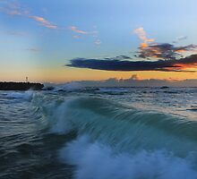 Rolling Waves South Beach Kingscliff by Ron Finkel
