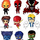 Chibi Heroes 2 by artwaste