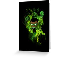Chibi Green Lantern Greeting Card