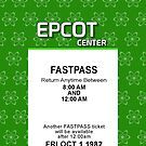 EPCOT Center's Opening Day Fastpass (iPhone 5 Version) by Rechenmacher