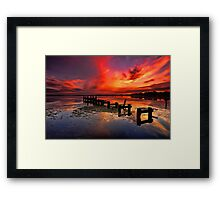 Gorokan Jetty Sunrise Framed Print