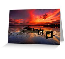 Gorokan Jetty Sunrise Greeting Card