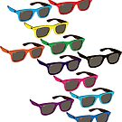 Colorful Sunglasses Pattern by impulsiVdesigns