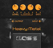 Boss Heavy Metal Pedal – iPhone 5 Case by Alisdair Binning