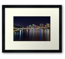 Lights of the City - South Bank, Brisbane NSW Framed Print
