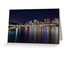 Lights of the City - South Bank, Brisbane NSW Greeting Card