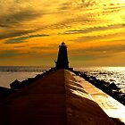 Ludington Lighthouse by Ted Schlosser