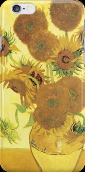 Van Gogh iPhone 5 Case - Sunflowers  by VanGoghCases