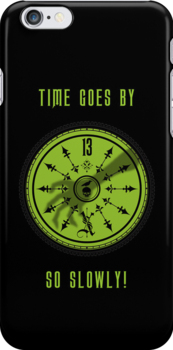Time Goes By, So Slowly 13th Hour Clock iPhone Cover in Black by Topher Adam by TopherAdam