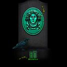 Haunted Mansion &quot;Leota Headstone&quot; iPhone 5 cover by Topher Adam for Hugs &amp; Bitchslaps by Hugs &amp; Bitchslaps SX Couture