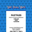 Walt Disney World's Opening Day Fastpass (Blue) (iPhone 5 Version) by Rechenmacher