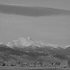 Longs Peak Full Moon by Bo Insogna