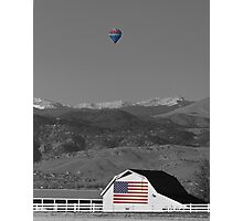 America The Beautiful The Banner Of The Free BWSC Photographic Print