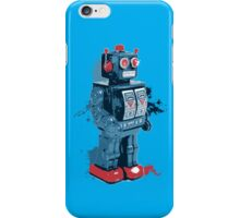 Blue Toy Robot Splattery Shirt iPhone Case/Skin