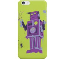 Green Tin Robot Splattery Shirt or iPhone Case iPhone Case/Skin