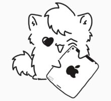 Kitty Loves iDevices! (sticker) by Mroo