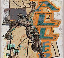 Slam Dunk Baller Basketball by MudgeStudios