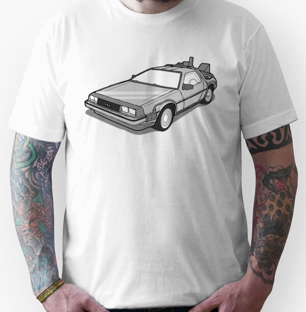$24.80 - Unisex Back to the Future Delorean Artwork T-shirt - S to 3XL