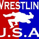 U.S.A. Wrestling logo by Euvari