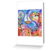 Summer Harbor Greeting Card