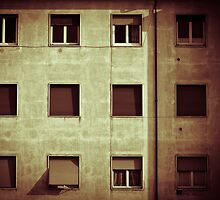 Windows with man by Silvia Ganora