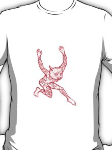Half Man Half Owl With Tattoos Dancing T-Shirt