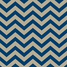 Bold Chevron Pattern 1 by Kat Massard