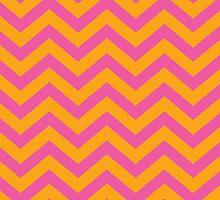 Bold Chevron Pattern 4 by Kat Massard