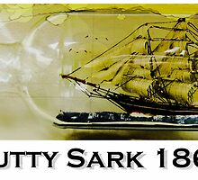 Cutty Sark, tea clipper, clipper, ship in bottle by Andrew Robinson