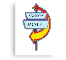 Sandy's Motel campy truck stop tee  Canvas Print