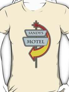 Sandy's Motel campy truck stop tee  T-Shirt
