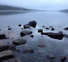 Misty Dawn on Loch Earn by elmilligano