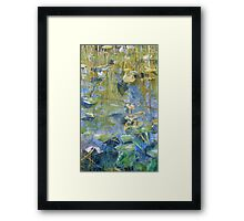 One Mile Lake, watercolor on paper mounted on board Framed Print