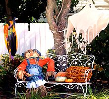 Scarecrow on bench by ♥⊱ B. Randi Bailey