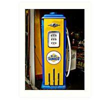 Blue Sunoco vintage gas pump Art Print