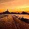 La Corbiere at sunset by Rachael Talibart