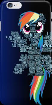 Rainbow Dash Typography by jblee22