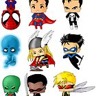 Chibi Heroes 3 by artwaste
