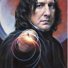 Snape, Defense Against the Dark Arts iPhone case by Cynthia Blair