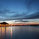 Nightfall over Marciana Marina 2 by Christine Oakley