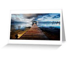 Boatshed Greeting Card