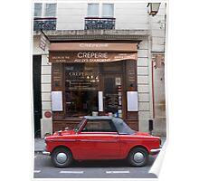 Autobianchi in Paris Poster
