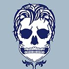 Skull Logo (White & Blue) by AlliVanes