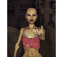 Zombie Seductress Photographic Print